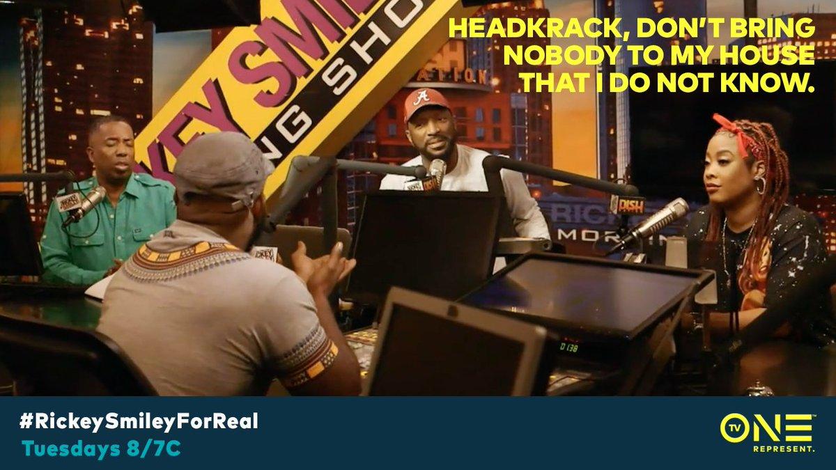 #RickeySmileyForReal is on @tvon