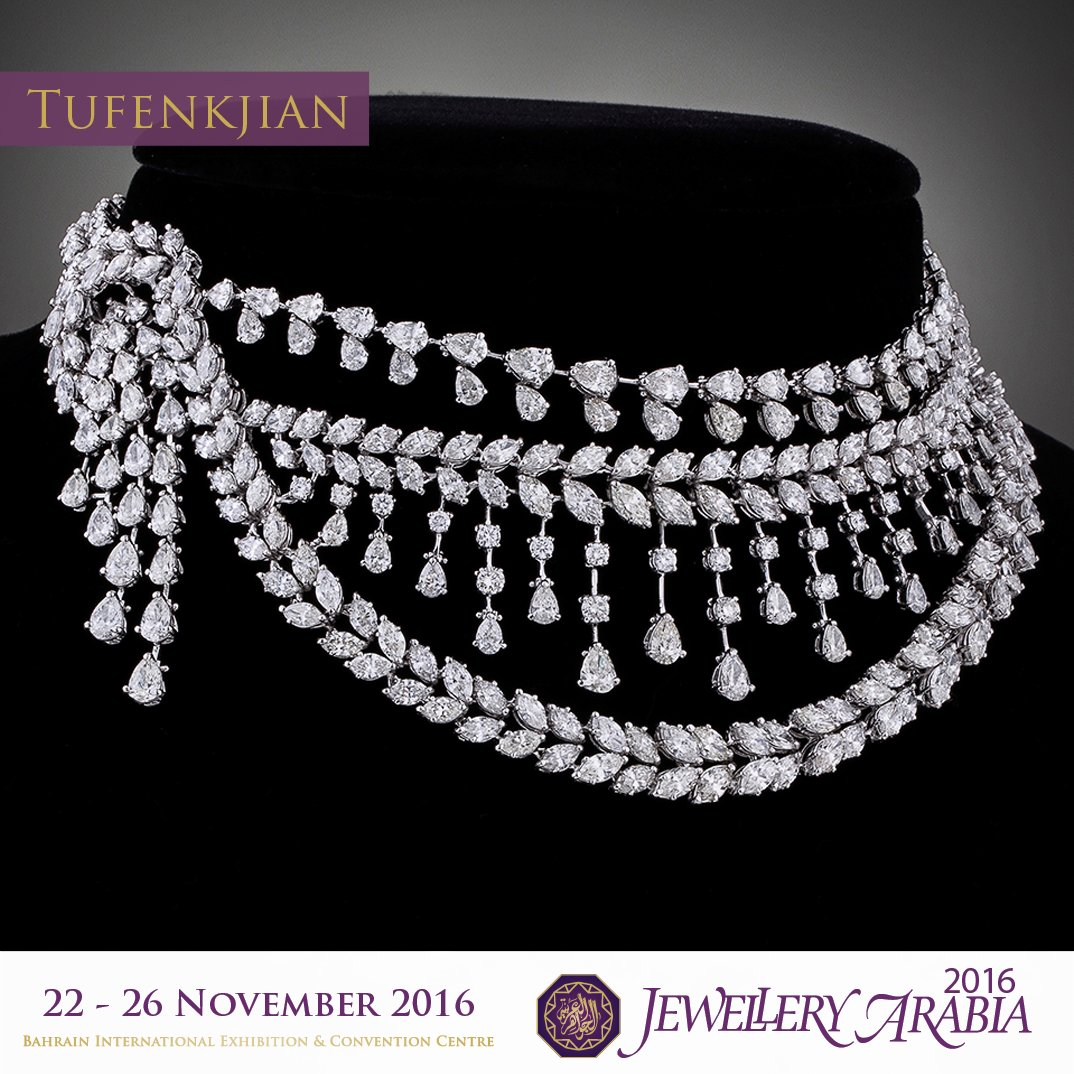 test Twitter Media - Tufenkjian offers you a breathtaking white gold necklace set with diamonds to illuminate your nights.a very dazzling & amazing craftsmanship https://t.co/US7dzUF1Mc