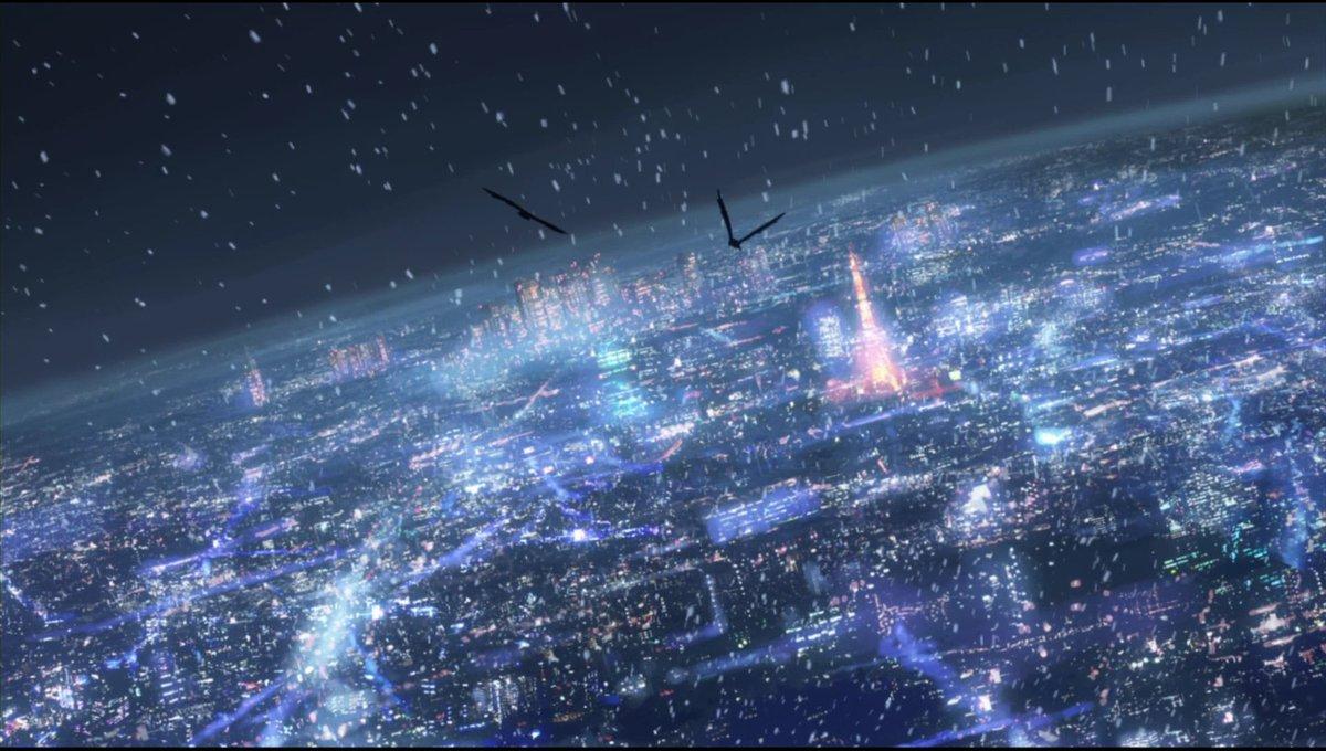 「#秒速5センチメートル」より。明日の関東地方は、こんな風景になるのでしょうか。。。#映画で印象に残っている雪