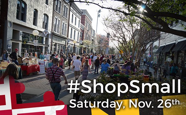 Small Business Saturday is quickly approaching! Here are our top Maryland picks https://t.co/7OdTm5fGLm #ShopSmall https://t.co/tvY1gvpWhP