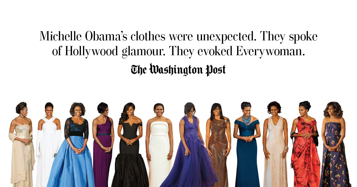 Michelle Obama didn't like to discuss her clothes, but they spoke volumes by @RobinGivhan