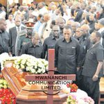 Magufuli leads mourners at funeral for ex-minister