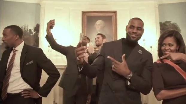 Video: Michelle Obama and LeBron James do Mannequin