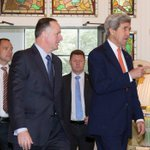US Secretary of State John Kerry meets with John Key in Wellington with the future of TPPA on the line