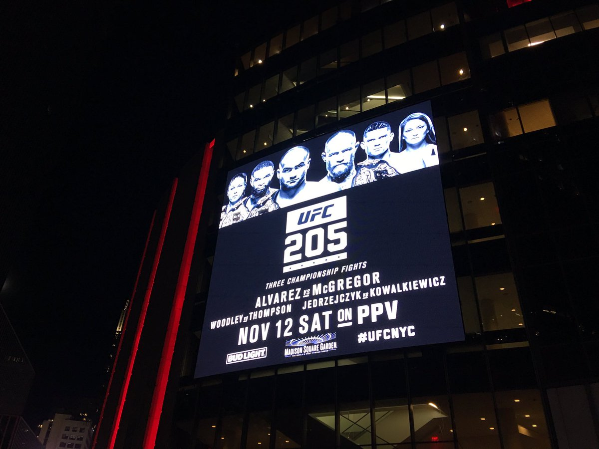 A Front Row Ticket To UFC 205 At Madison Square Garden Is Going For $10,000  On