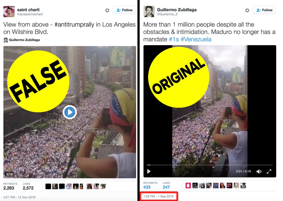 This viral video claiming to show anti-Trump protests in Los Angeles is actually from Venezuela