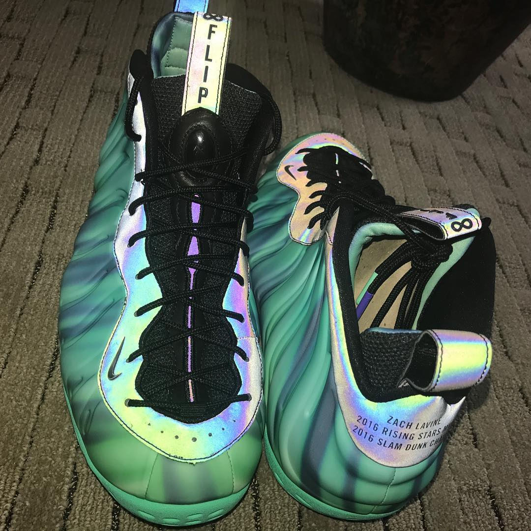Zach LaVine Honors Flip Saunders With This Custom Nike Foamposite One Northern Lights