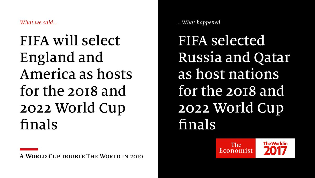 "TheWorldIn 2010 predicted that FIFA ""will follow the money."" From the archive"