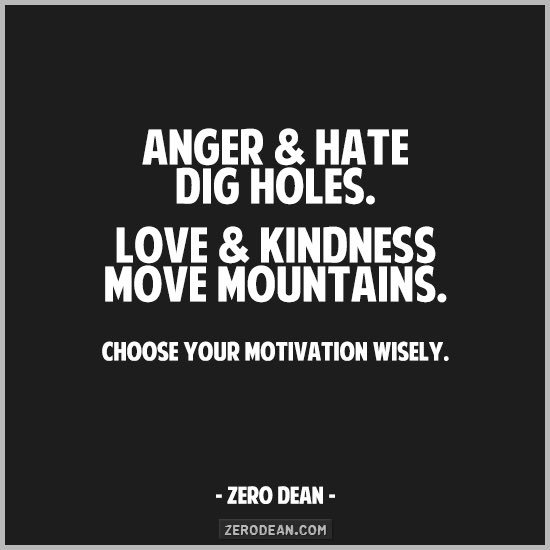 Anger & hate dig holes.  Love & kindness move mountains.#ThinkBIGSundayWithMarsha #LoveTrumpsAll https://t.co/Vh7NQOOQgv
