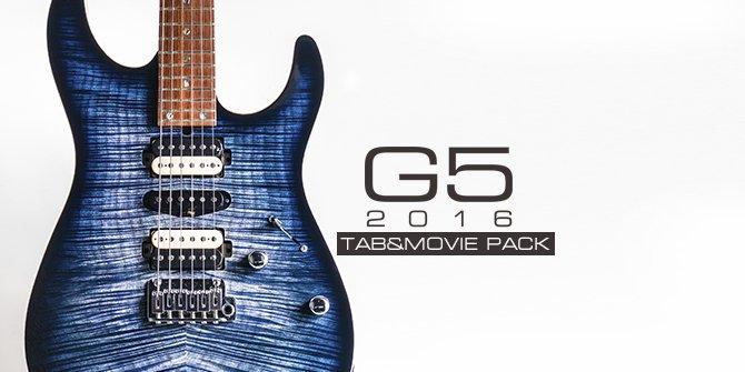 G5 2016 TABS&MOVIE PACKを11月19日にリリースします。 全楽曲の ・ハイライトの演奏動画 ・ハイライトのTAB ・バッキングトラック 及び ・Determined、Surge、CloudiaのMV を収録。 https://t.co/zyYXogTxPi