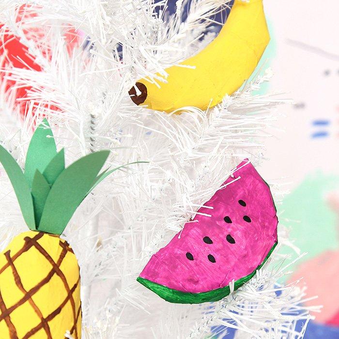 DIY: Frutas de papel maché para adornar el árbol de Navidad