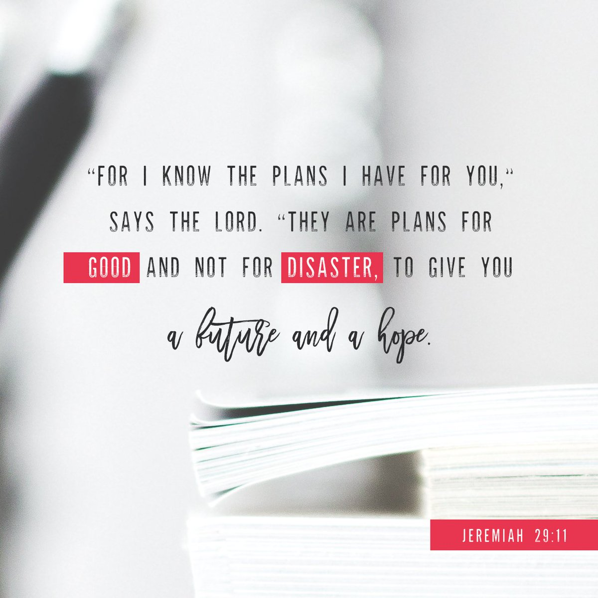 """For I know the plans I have for you,"""" says the LORD. """"They are plans for good and not for… https://t.co/LedjJyoaAG https://t.co/PNdXGeCdRd"""