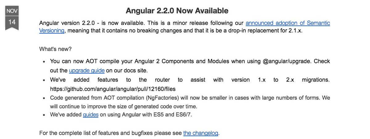 Angular 2.2.0 is now available.  Read about it on our blog https://t.co/XQlgdl3GSR https://t.co/nSDIVS2Ebq