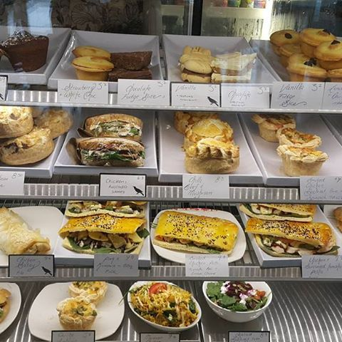 Tuesday 15 November, 11:15 a.m. - So many delicious options for lunch #yummo #homemadebreads #homemadepies