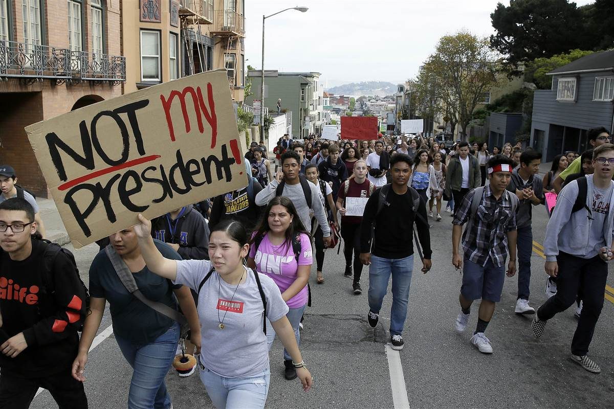 Do high school walkouts suggest generational resistance to Trump?