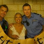 Perth cops receive noise complaint...then join in couple's backyard wedding
