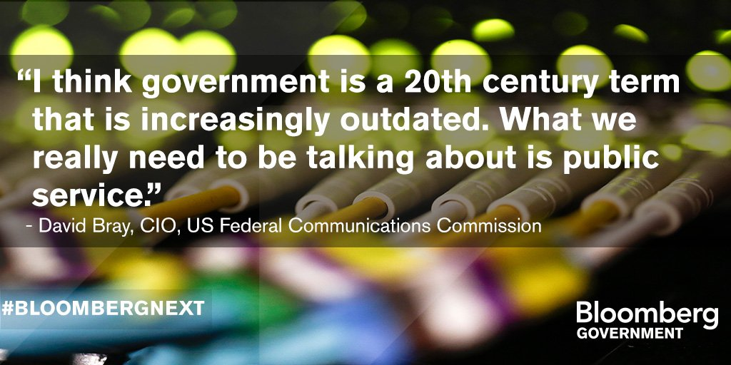 .@fcc_cio David Bray joins #BloombergNext to discuss the road to a mature federal digital enterprise https://t.co/7Jajih9ODb