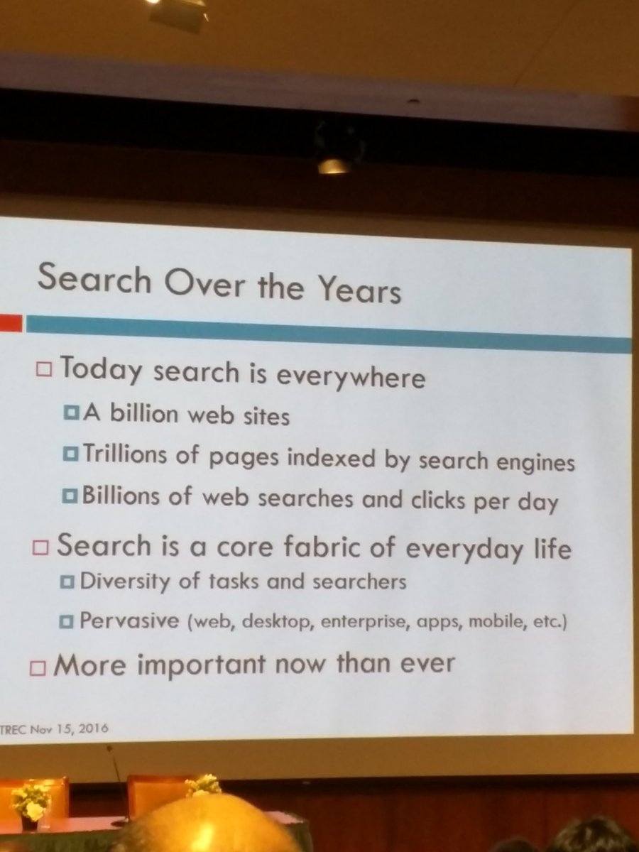test Twitter Media - RT @julia_kiseleva: Susan Dumais keynote at #trec2016. Looking back and what's next in search! https://t.co/nZYnafdRY5