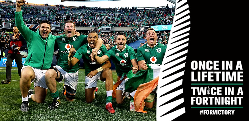 We ended the @AllBlacks' 18 match winning streak, let's see if we can continue our own. #ForVictory #IREvNZL https://t.co/bJEcbV6AUE