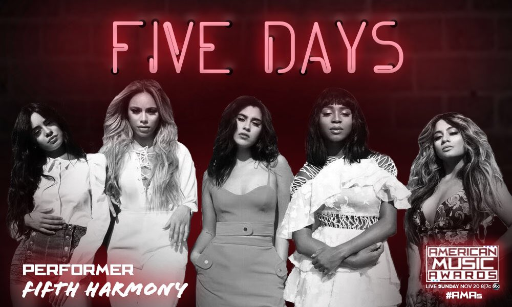 That's My Girl live at the @AMAs is happening in FIVE DAYS!!! AHHH so excited ��✨ #AMAs https://t.co/v0fxfXBITg