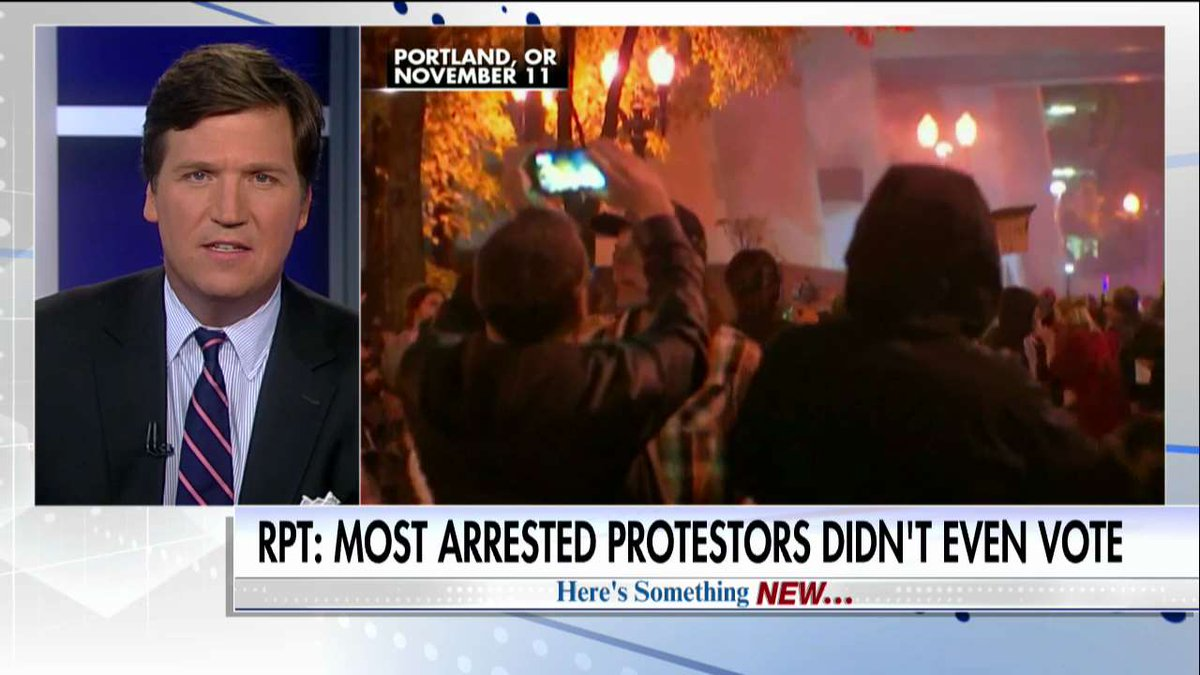 RPT: More Than Half of Anti-Trump Protesters Arrested in Oregon Didn't Vote