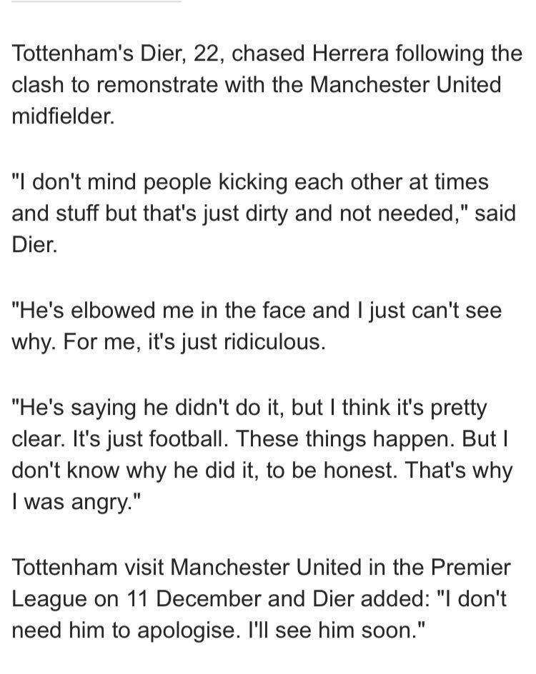 'I don't need him to apologise. I'll see him soon' - Eric Dier https://t.co/wxpQPa1VXm