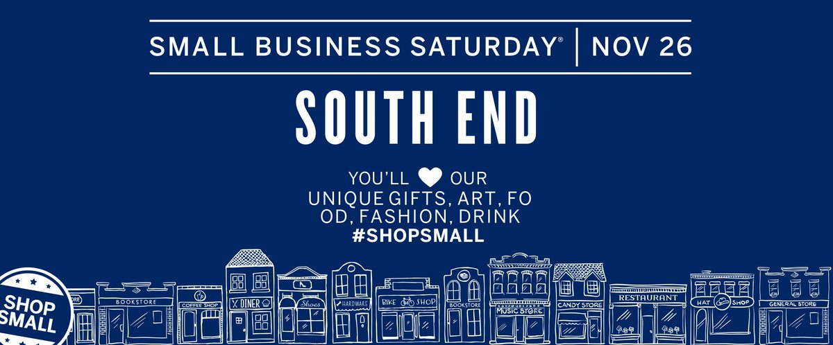 Today on the blog: 6 ways to #shopsmall in South End on Small Business Saturday (11/26)! https://t.co/kXOiKJVM9L https://t.co/4RjImDotQU