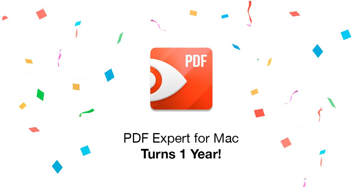 PDF Expert for Mac turns 1 year! Retweet to win a free code ($60 value)!