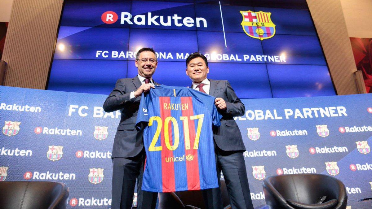 「FCバルセロナ」のグローバルでのメインパートナーとなります。イノベーションパートナーという形で、新しいことをどんどんやっていきます!@FCBarcelona #FCBRakuten https://t.co/6sI7xLKAku https://t.co/56BWHJn5bD