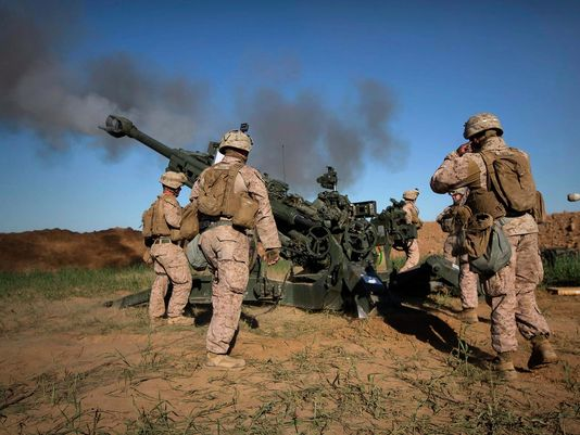 Trump pledges to build a Marine Corps that can win two wars. At the same time. https://t.co/ykIWbXR32p https://t.co/I9zpZCoc0u