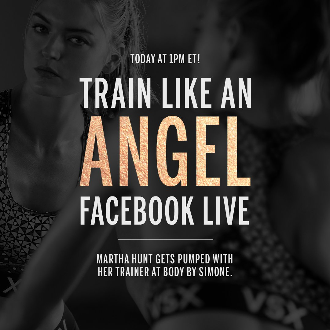 Today in 1 hour: @MarthaHunt is live from @bodybysimone! #TrainLikeAnAngel https://t.co/jsYNb9eZDK https://t.co/A34uOr7s0L