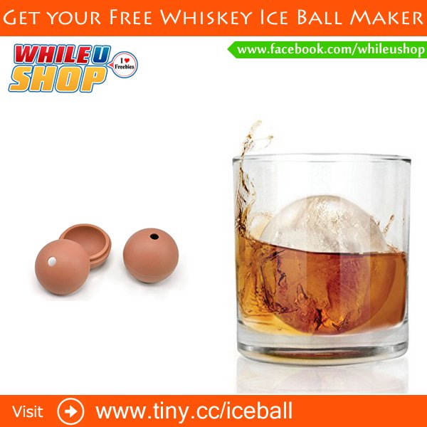 Get your Free Whiskey Ice Ball Maker freebies freesamples free freesample