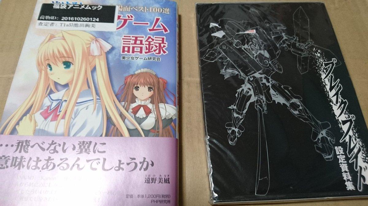 51,52冊目美少女ゲーム語録、ブレイクブレイド設定資料集