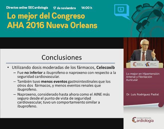 """""""Naproxeno no parece ser tan seguro en riesgo cardiovascular"""", confirma el doctor Luis Rodríguez Padial en #postAHA16 https://t.co/S0GLs1Q7Dx"""