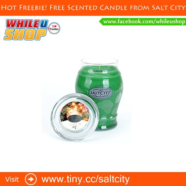 Hot Freebie! Free Scented Candle from Salt City freebies freesamples free freesample