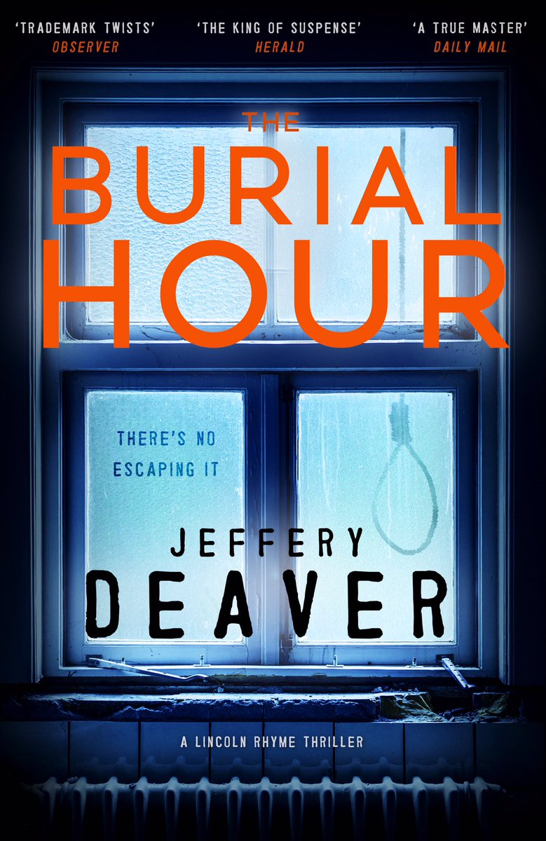 Feast your eyes on the UK/Ireland cover art for the next Lincoln Rhyme thriller, THE BURIAL HOUR, out in April. https://t.co/0JL5rg58fD