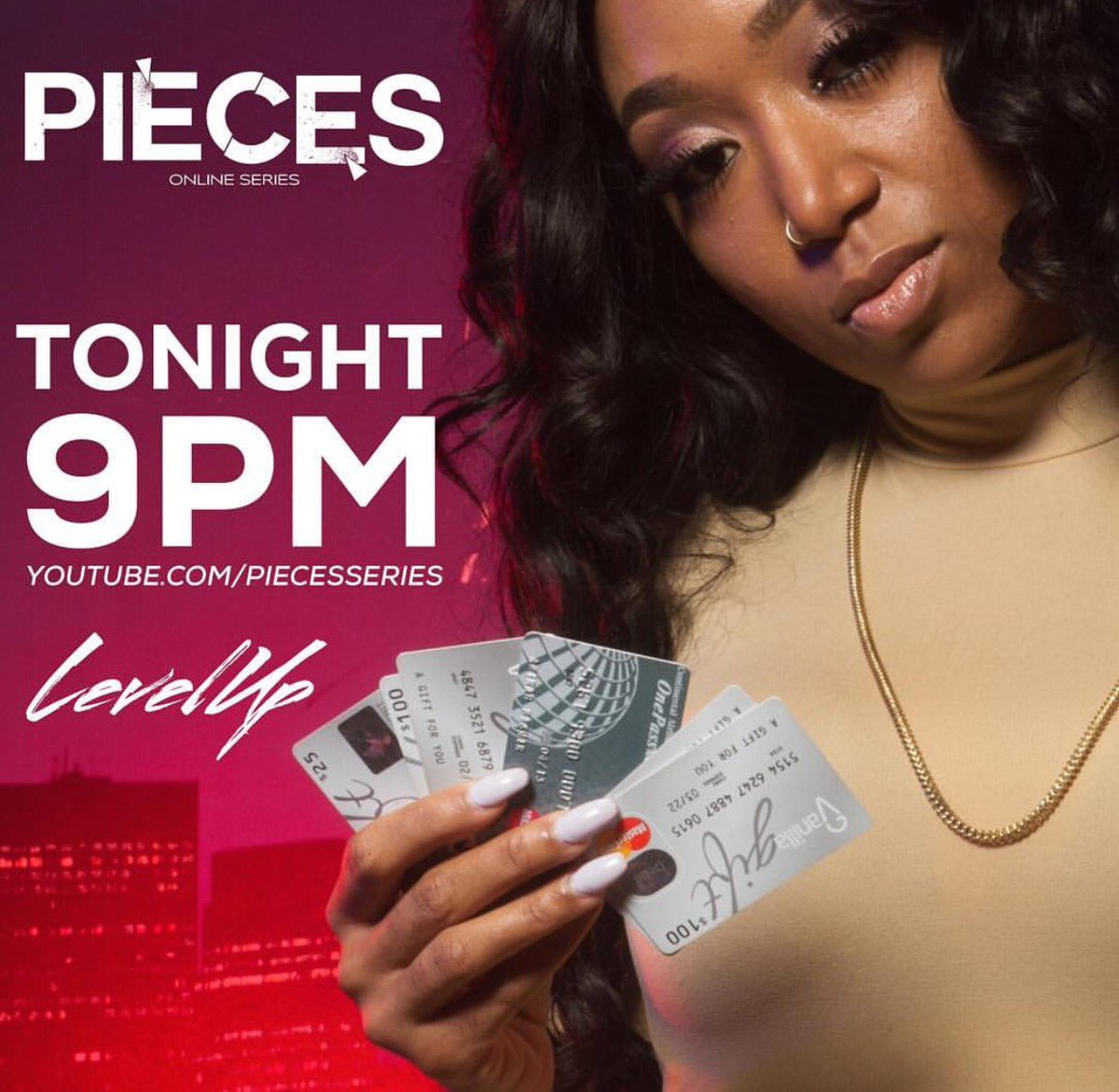 @PiecesSeries Returns tonite... Season 3. #PiecesSeries #Pieces #LevelUp #SeasonThree https://t.co/QjTT02xUAB