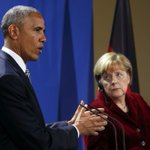 Obama, Merkel underscore importance of free trade talks