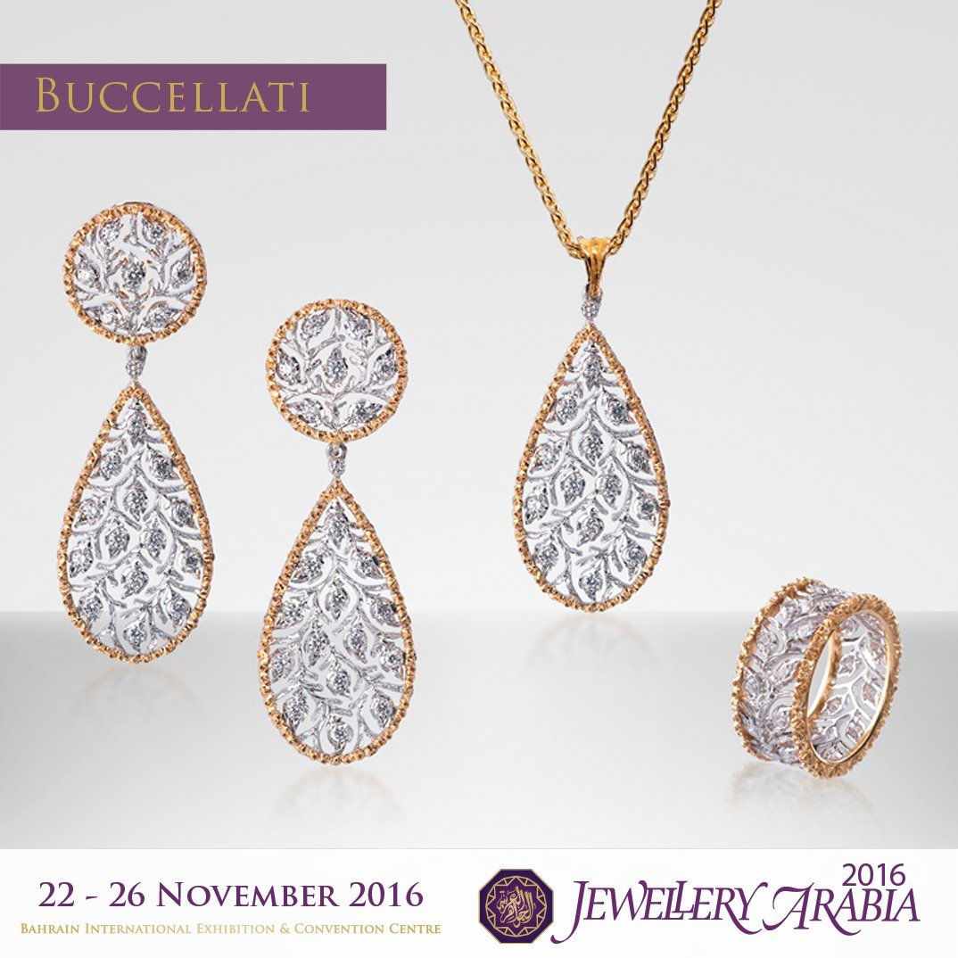 "test Twitter Media - The ""ramage"" design is a timeless gold pattern by @buccellatimilan with tiny and exquisite diamond leaves. For your eyes only! https://t.co/hQ6oDKJh6w"