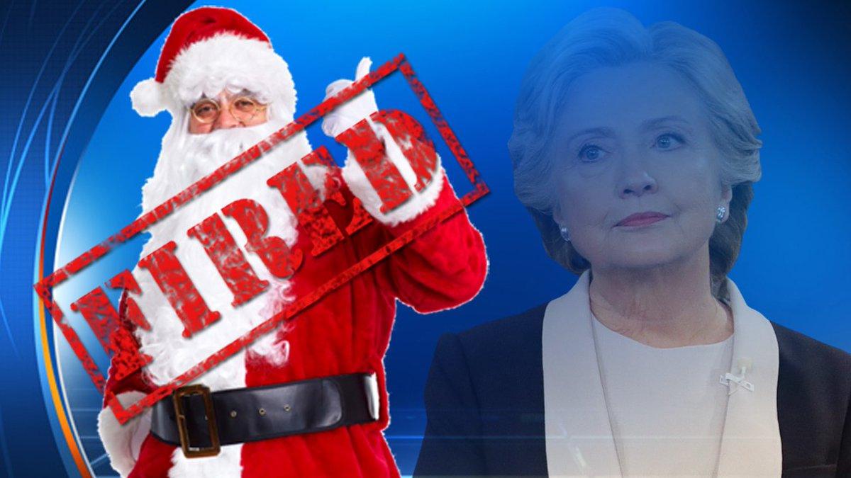 santa fired hillary naughty list