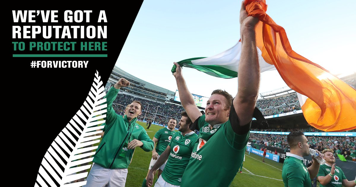 We're confident! Who else is backing us to do the Double-Haka tomorrow? C'mon Ireland #ForVictory #IREvNZL https://t.co/KljQ2ePlt6