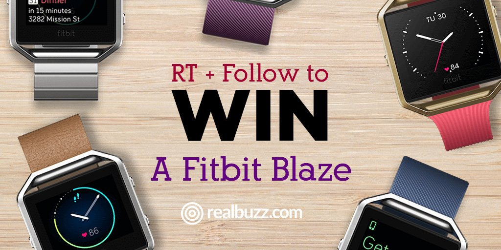 #Win a Fitbit Blaze in this month's #competition #giveaway �� Follow & RT to enter.  #realbuzzBlaze�� https://t.co/Po4HOjkkcl
