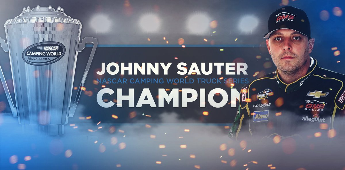 Retweet to congratulate @JohnnySauter, the first-ever winner of #TheChase in the Camping World Truck Series! https://t.co/7AgQjivqsF