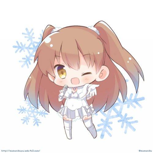 ちびキャラ連絡~大好きなホワルバ2から小木曽雪菜ちゃんです!(*´∀`*) #今日のちびキャラ練習  #WA2 次はかず