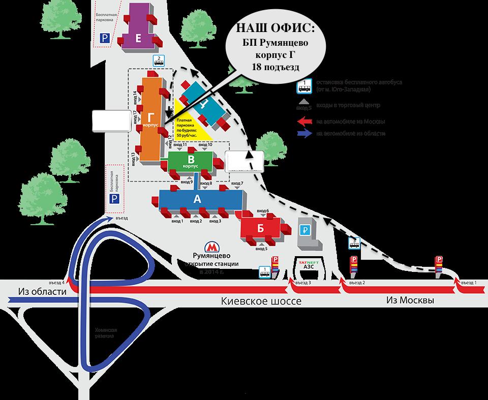 Технопарк румянцево схема проезда