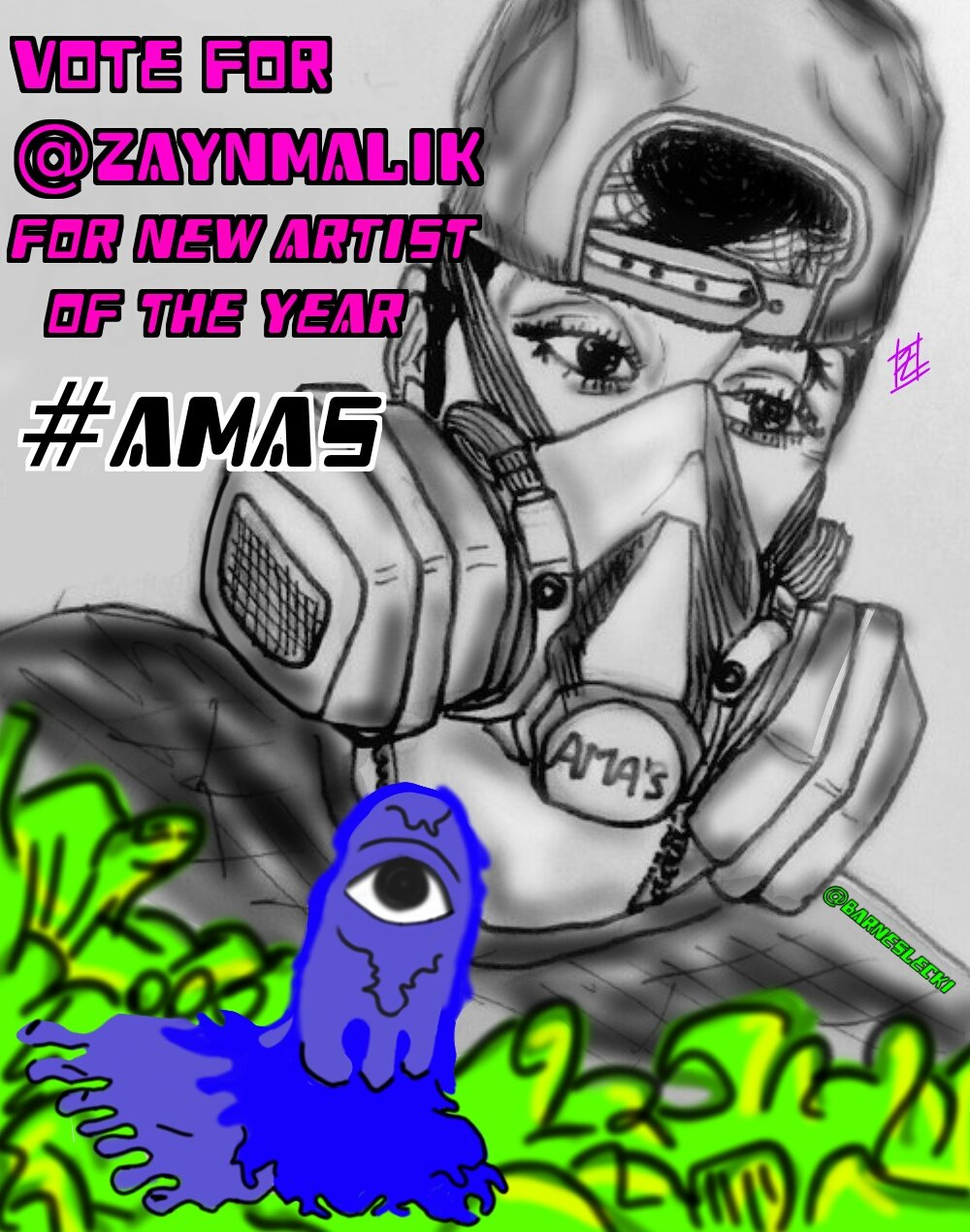 Tag 10 mutuals and RT to vote for Zayn ����  I'm voting for @zaynmalik for New Artist of the Year  #AMAs https://t.co/2agvgGTkXk