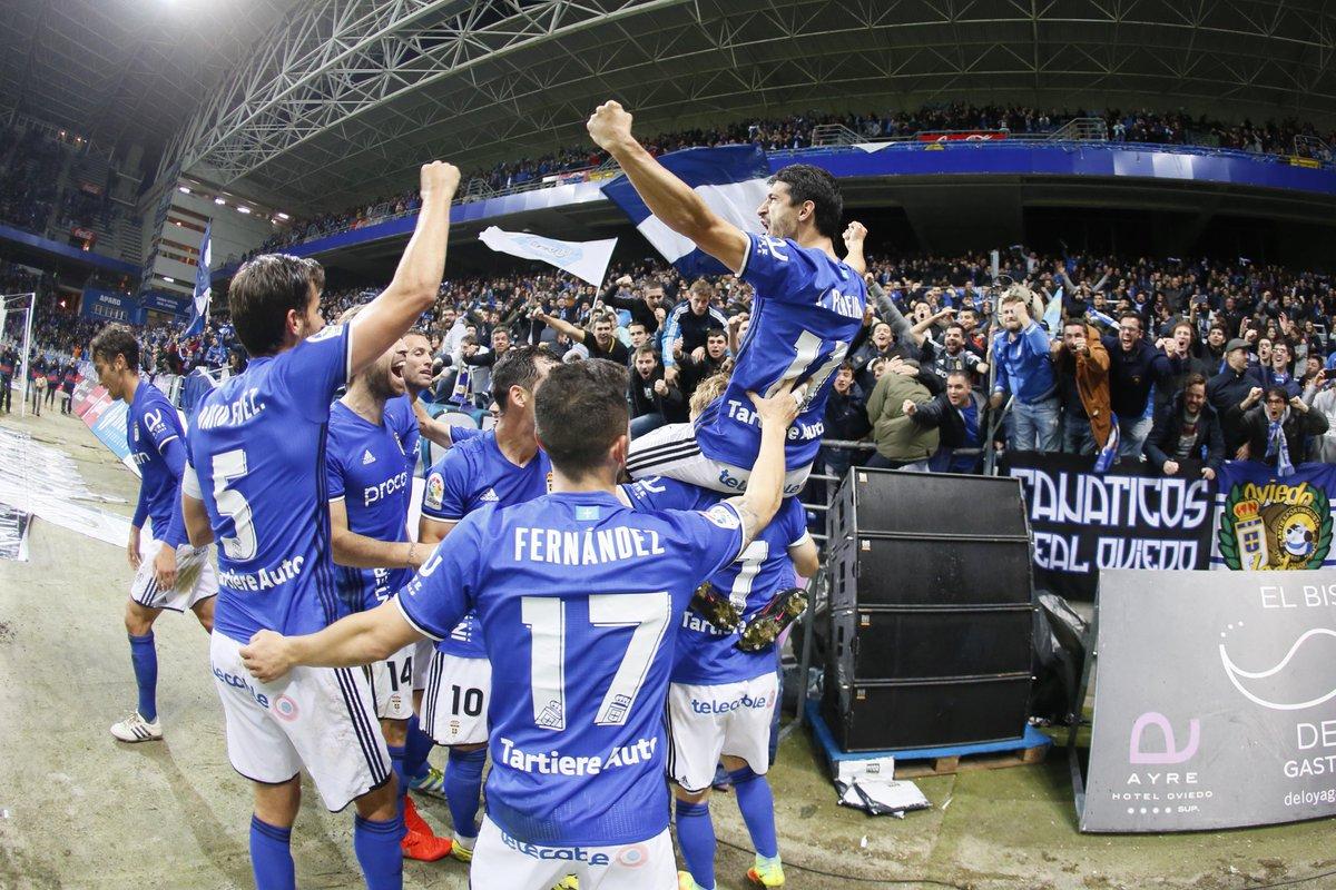 El Real Oviedo frena al lider.