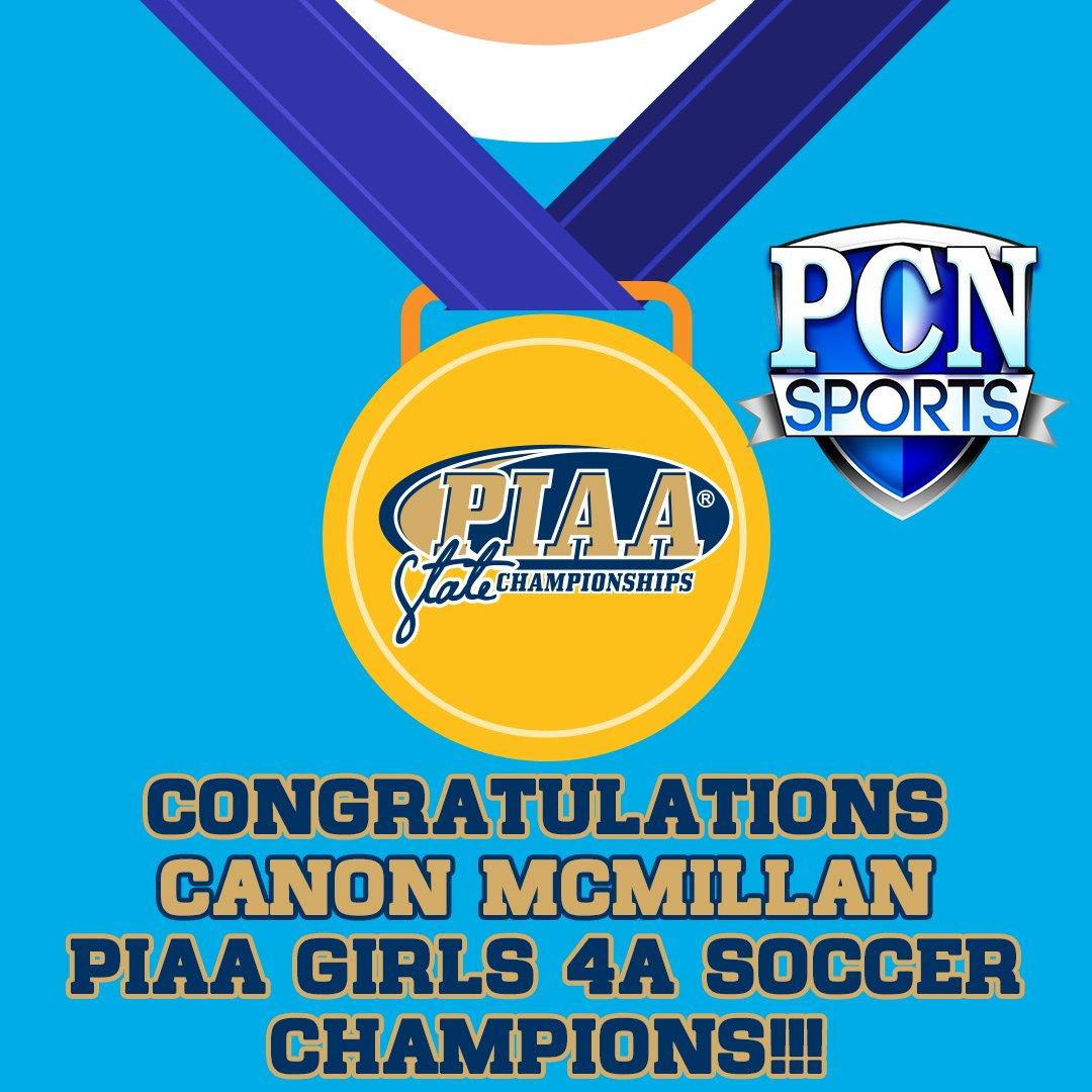 Congratulations, @CanonMacSchools @CanonMacSoccer PIAA Girls 4A State Champions! https://t.co/sOr4N2l88w