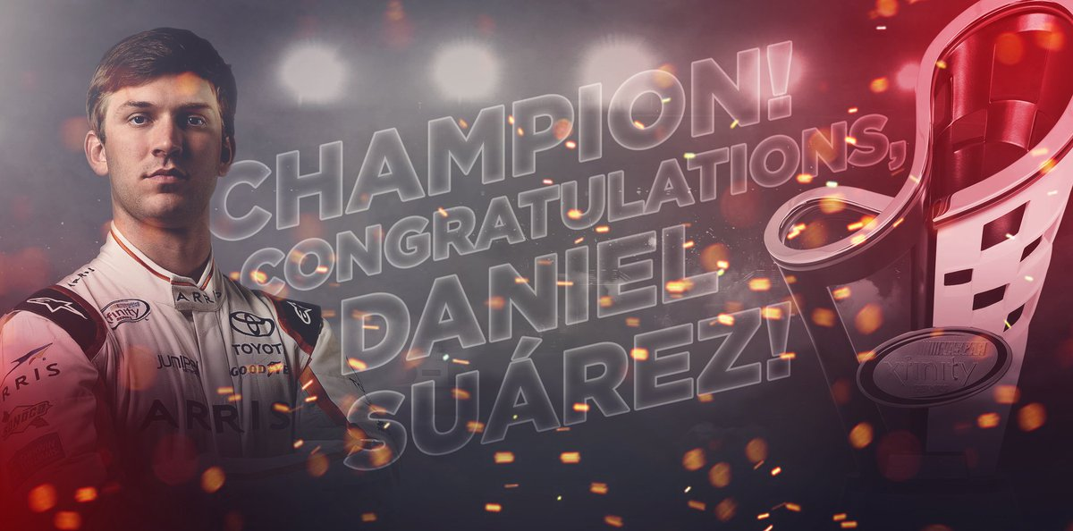 Retweet to congratulate @Daniel_SuarezG, your 2016 #XFINITYseries champion!  #TheChase https://t.co/LHN1Nx2eyd