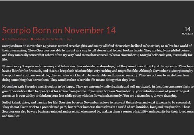#Scorpio #Nov14 This is me 💯~> https://t.co/AKRbgISVgN